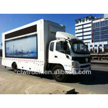 Factory Price Foton truck led ,p10 led mobile stage truck for sale